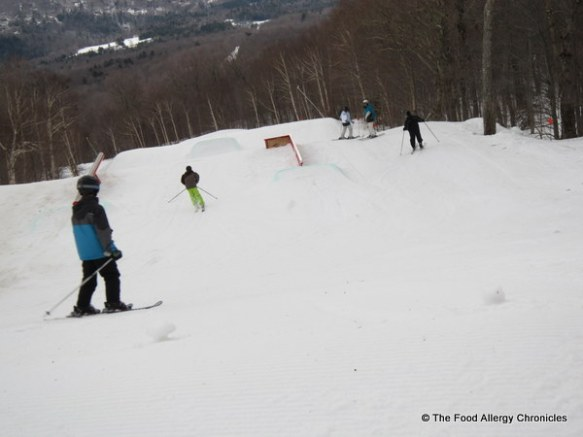 view of the a ski park at Stowe, Vermont
