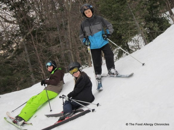 boys chilling on the hill at Stowe Vermont