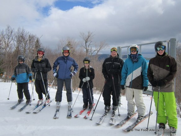 group shot on the slopes at Stowe, Vermont