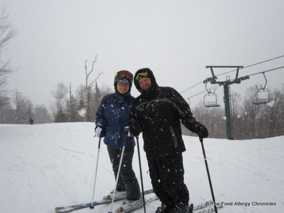 andy and I in the blizzard at Stowe, Vermont