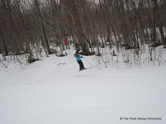 Matthew on his ski jump
