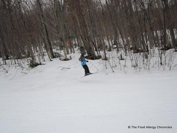 Matthew on his ski jump