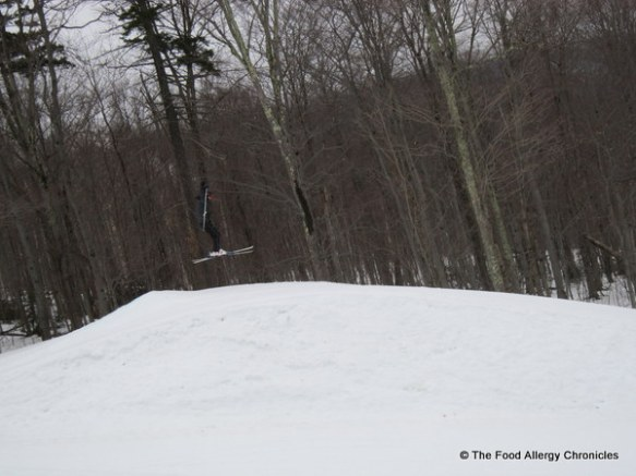 Michael on his ski jump at Stowe Vermont