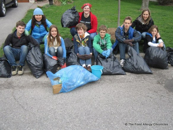 Our Earth Day Neighbourhood Clean Up Crew for 2012