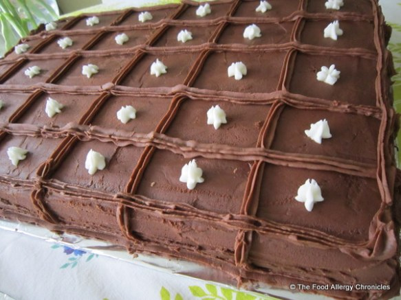 Dairy Egg Soy and Peanut/Tree Nut Free Chocolate Sheet Cake