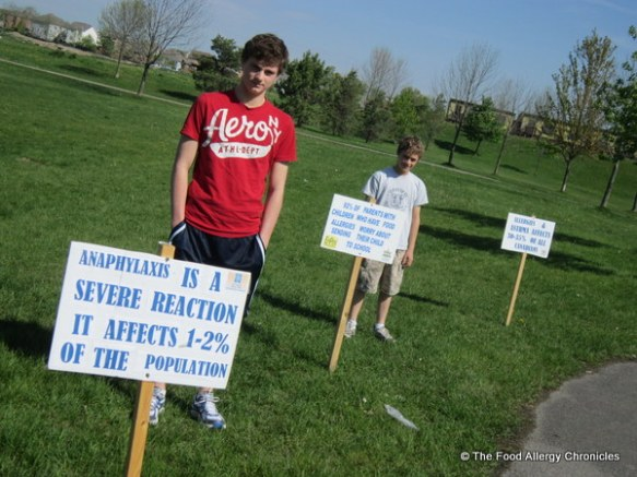 My boys at the 2012 Epi Pen Take Action Event in Brooklin Ontario