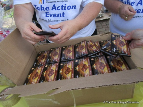 Lamontagne Milk Chocolate with Caramel Bars handed out at the Epi Pen Take Action Event