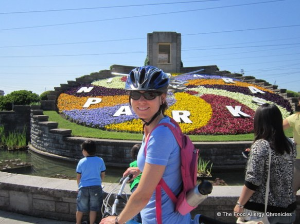 Me at the Floral Clock in Niagara 2012