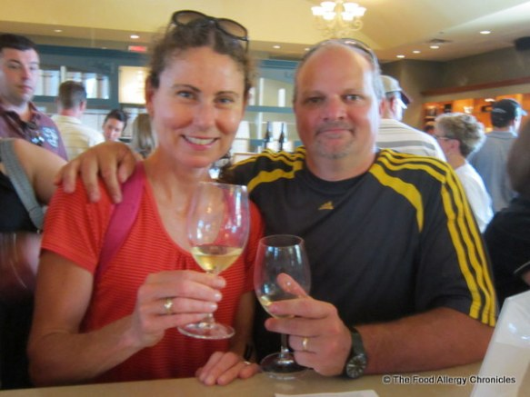 Enjoying a sample of wine at Pellar Estates in Niagara on the Lake 2012