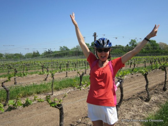 Me in the vineyard at Pellar Estate Winery in Niagara on the Lake 2012