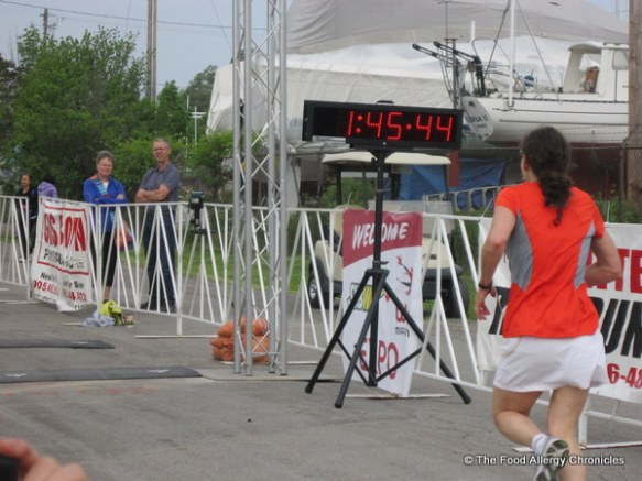 Me finishing the WIN 1/2 Marathon