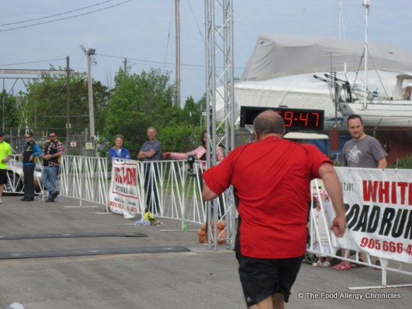 Andy finishing the WIN 1/2 Marathon