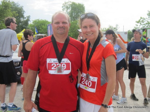 Andy and I with our WIN 1/2 Marathon medals