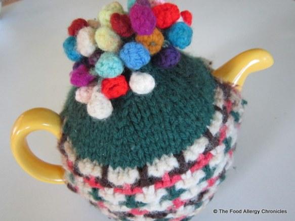 My mom's birthday teapot with tea cosy