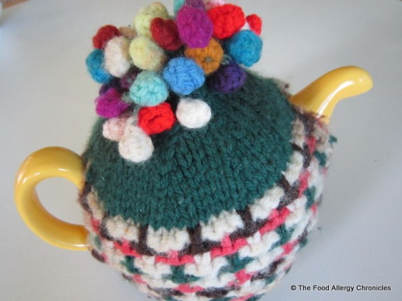 My mom's birthday teapot with tea cosy