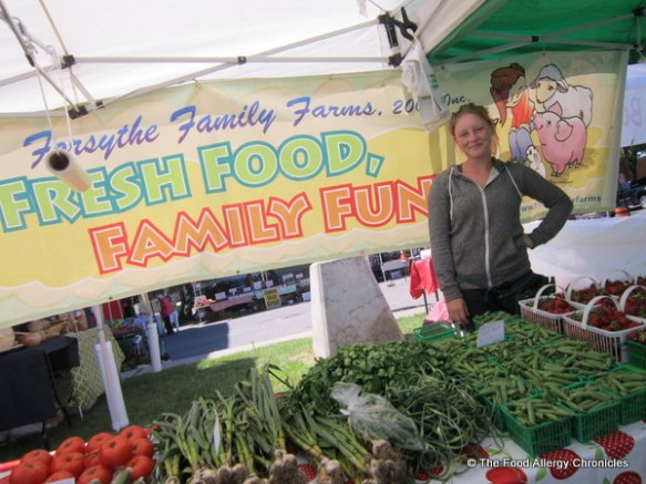 Forsythe's Family Farm at the Whitby Farmer's Market, June 2012