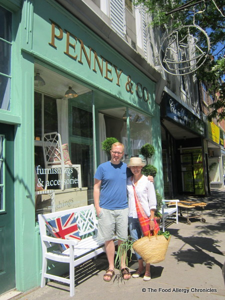 Myself and Michael Penney outside his store, Penney and Company, Whitby