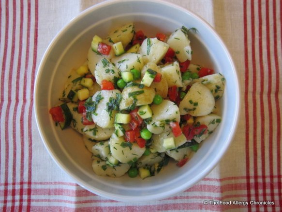 Dairy, Egg and Mustard Free New Potato Salad With Lemon Vinaigrette