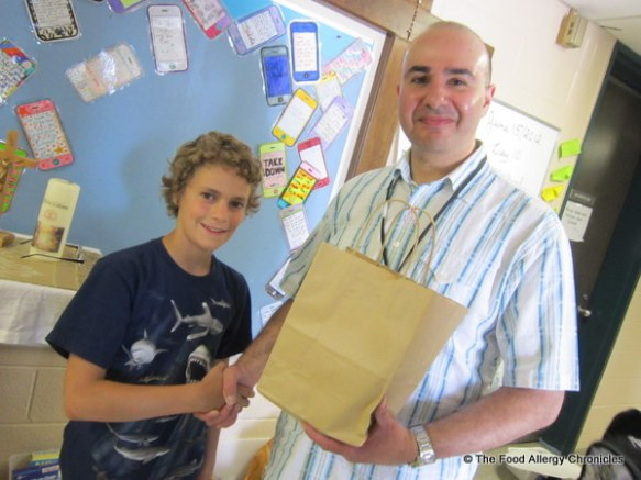 Matthew and his Grade 7/8 teacher, Mr. G