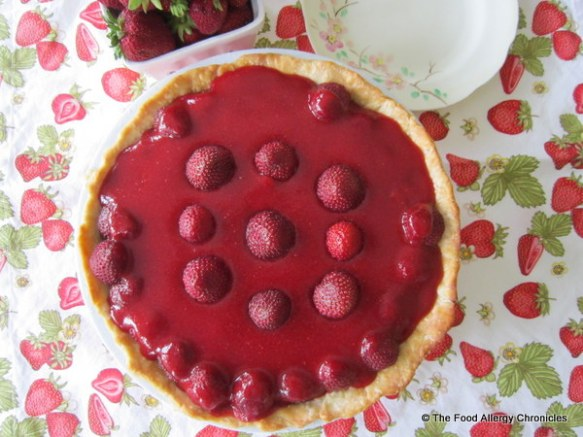 Dairy, Egg, Soy and Peanut/Tree Nut Free Strawberry Pie