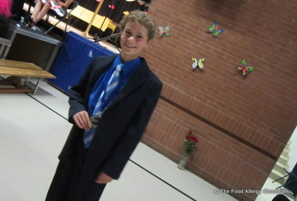 Matthew graduating Grade 8 with Honours, 2012
