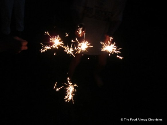 The boys and their sparklers on Canada Day 2012