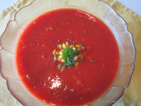 Allergy Friendly Gazpacho