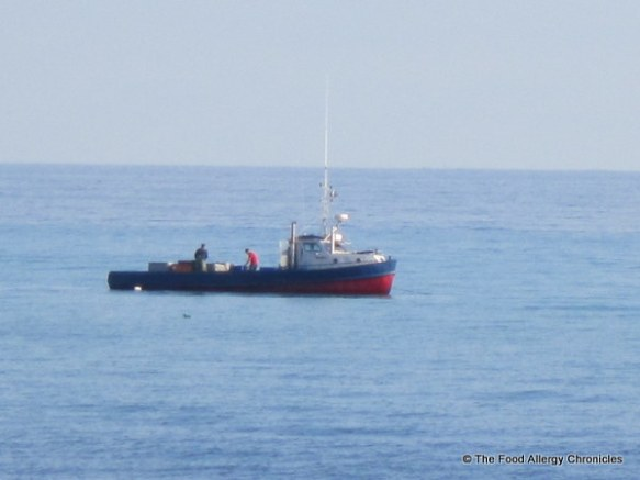 Purdy's Fisheries tug boat out on Lake Huron hauling in the catch of the day