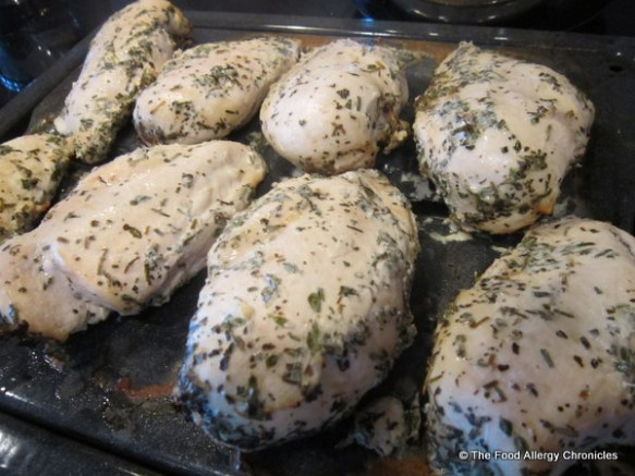 Dairy and Mustard Free 'Buttermilk' Barbecued Chicken cooked under the broiler