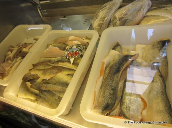 Fresh local Pickerel, Perch and Lake Trout at Purdy's Market