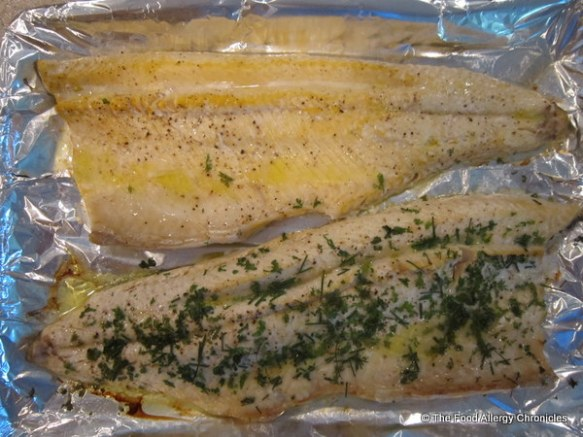 Baked local Lake Trout from Purdy's Market