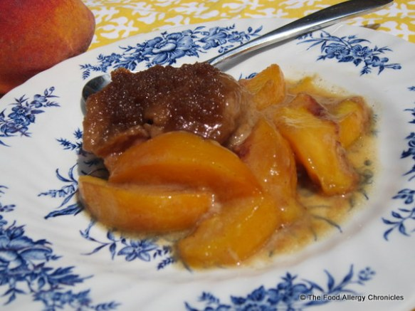 Dairy, Soy and Peanut/Tree Nut Free Summertime Peach Crisp