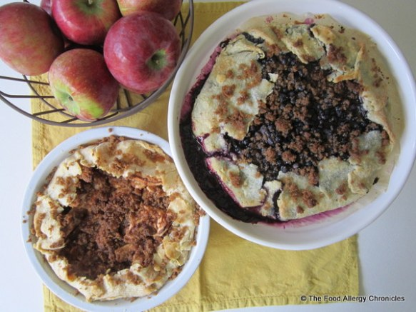Dairy, Egg,Soy and Peanut/Tree Nut Free Apple and Blueberry Crostata