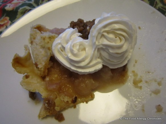 Michael's slice of Dairy, Egg, Soy and Peanut/Tree Nut Free Apple Crostata with Soyatoo Rice Whip Topping