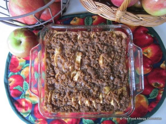 Dairy, Egg, Soy and Peanut/Tree Nut Free Apple Kuchen