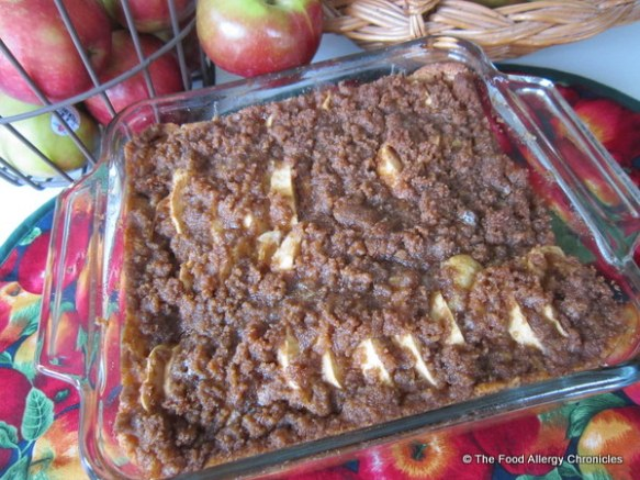 Dairy, Egg, Soy and Peanut/Tree Nut Free Apple Kuchen
