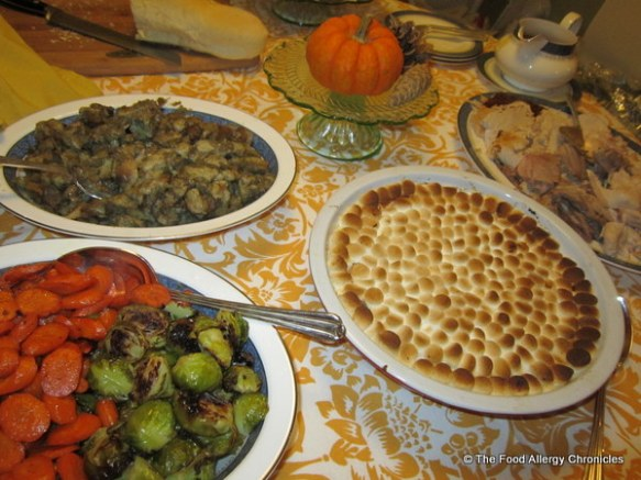 Our Thanksgiving buffet 2012