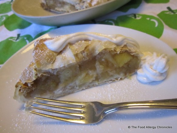 Dairy, Egg, Soy and Peanut/Tree Nut Apple Strudel with Soyatoo Rice Whip Topping