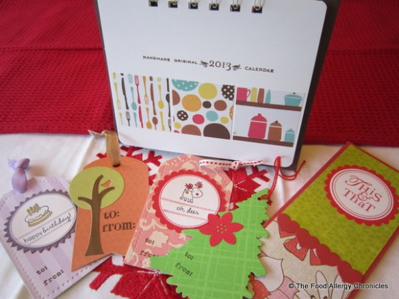 Handmade kitchen notepad, tags and kitchen themed calendar by Irma @craftmates