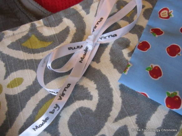 Ribbon inscribed with 'Made by Virna' from craftmates