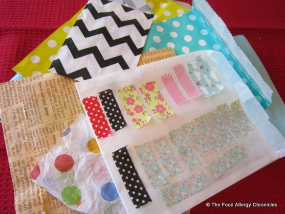 Beautiful paper bags and 'saved' washi tape
