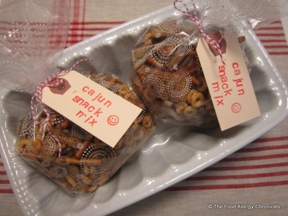 Two packages of Peanut/Tree Nut, Mustard and Sesame Free Cajun Snack Mix