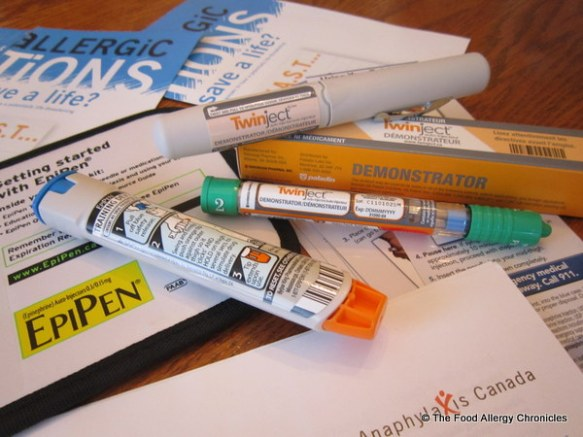 Epi Pen and TwinJet trainers from Anaphylaxis Canada