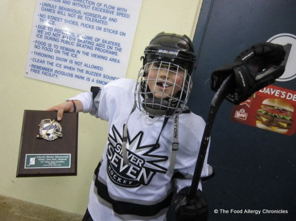 Lukas a Silver Stick champion
