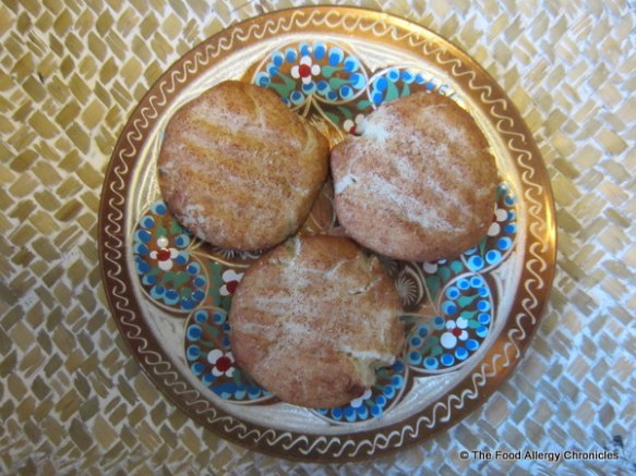 A plate of Dairy, Egg and Peanut/Tree Nut Free Diwali Chai Snickerdoodle Cookies