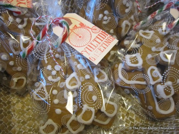 Four packages of Dairy, Egg, Soy and Gingerbread Men Cookies