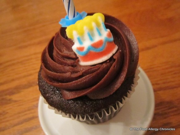 Matthew's special birthday cupcake from The Cupcake Shoppe