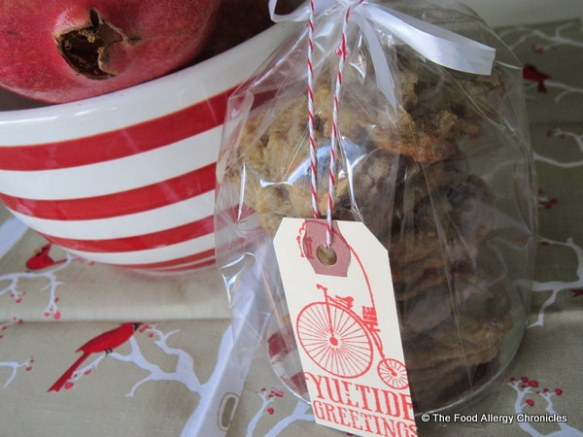 A package of Dairy, Egg. Soy and Peanut/Tree Nut Free Date Drop Cookies for Anne