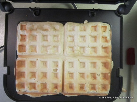 Dairy, Egg, Soy and Peanut/Tree Nut Free Waffles in the Cuisinart Waffle Plates