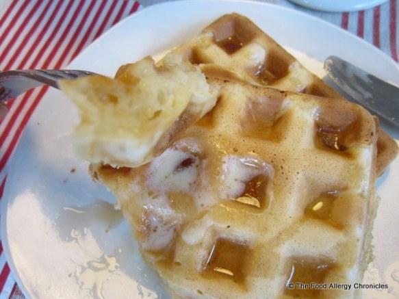 Enjoying a Dairy, Egg, Soy and Peanut/Tree Nut Free Waffle
